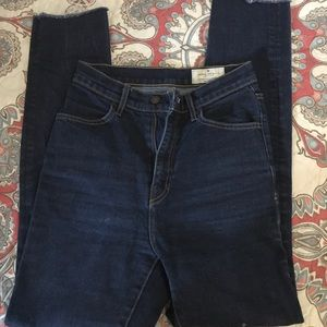 High Waisted blue jeans!
